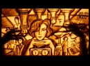 A little art work made in sand animation technique The Queen s Gambit