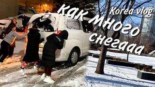 Снегопад в Корее 2021/Korea snow/눈덮힌 한국/KOREA VLOG