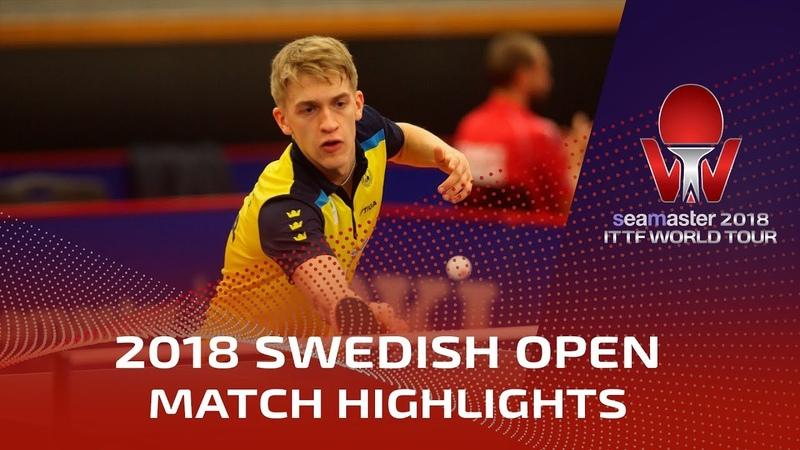 Truls Moregard vs Anton Kallberg I 2018 ITTF Swedish Open Highlights Pre