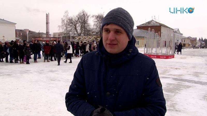 Молодогвардейцы выстроились в фразу Михаила Ломоносова
