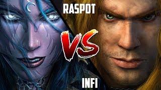 WC3: Infi (Night Elf) vs. Raspot (Human) [BlizzCon 2010 G2] | Warcraft 3