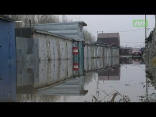 Из затопленных гаражей начали отводить воду