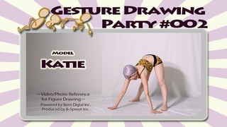 GESture DRAWing Party : #002 Katie/ケイティ -Video/Photo Reference for Figure Drawing-