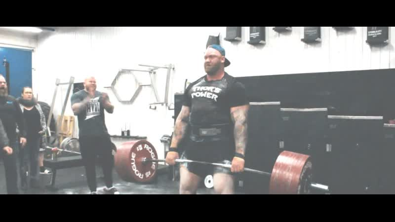 12 01 2018 Hafthor Julius Bjornsson The Mountain Deadlifts 425kg two reps Full Workout in Thors Power Gym