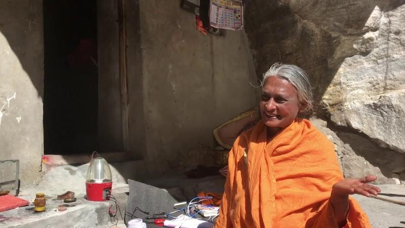 Lady saint Lalitha Devi a Himalayan yogi living ahead of Gangotri in a cave since 20 years
