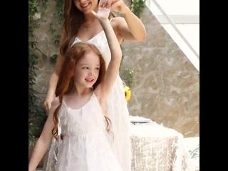 Patpat 2020 новые летние пышные одинаковые длинные платья для мамы и меня наряды на бретелях без