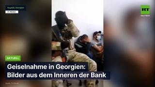 Geiselnahme in Georgien: Bilder aus dem Inneren der Bank