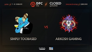 simply TOOBASED vs Arkosh, Dota Pro Circuit 2021: Season 1 - NA, bo3, game 3 [4ce & Lex]