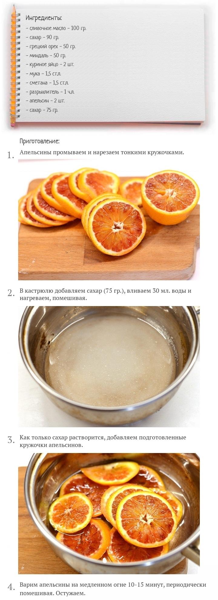 Ореховый торт с апельсинами, изображение №2
