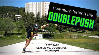 Inline Skating DOUBLEPUSH - How much faster is it? (Classic vs. Doublepush test)