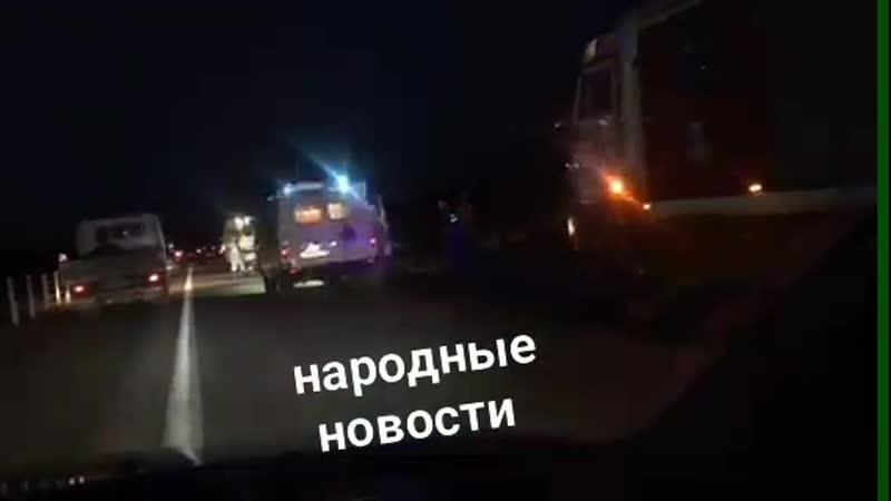 Маршрутка попала в аварию на трассе Вилюй