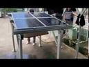 Test hệ thống giá đỡ điện mặt trời trên mái nhà, không lo bị dột