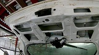 Замок багажника opel astra H,замена кнопки багажника