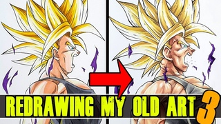 "Redrawing My OLD, ""BAD"" Art 
