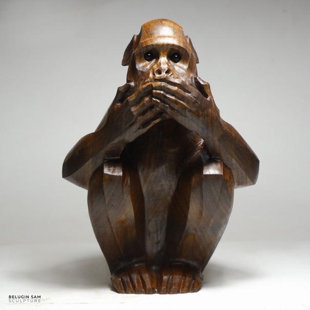 Скульптура «Не произнесу зла»
