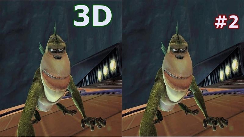 Monsters vs Aliens 3D video SBS VR box google cardboard 2