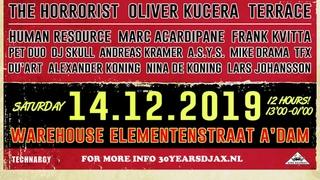 Mike Drama - Djax Records 30 Years Anniversary 14-12-2019 Warehouse Elementenstraat Amsterdam (NL)