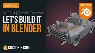 Transforming A Car Into A Zombie Destroyer In Blender | Let's Build It In Blender - Episode 4