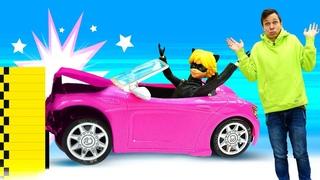 Видео игры машины – Краш-тест для Тачки Супер Кота! – Леди Баг и Роботы Трансформеры в игры гонки