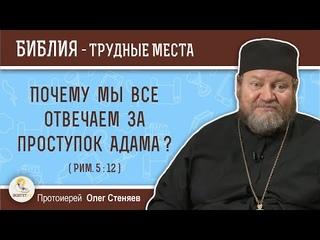 Почему мы все отвечаем за проступок Адама ? (Рим. 5:12)  Протоиерей Олег Стеняев