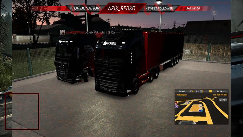 RUS KoR Катаем Рейсы присоединяйся к нам прямо сейчас AZIK REDKO TruckersMP ETS2 WorldofTrucks SCSSoftware eurotruck