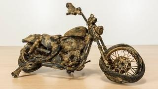 Restoration abandoned Harley Davidson seventy two motorcycle