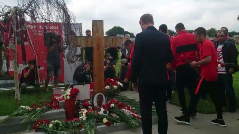 Футболисты а также ветераны почтили память Федора Черенкова исполнилось бы 60 лет