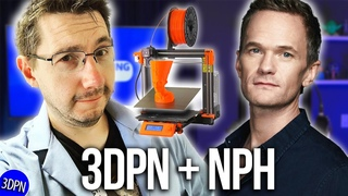 3D Printing with Neil Patrick Harris! Prusa Unbox & First Print!