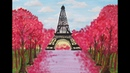 Blooming Cherry and Eiffel Tower