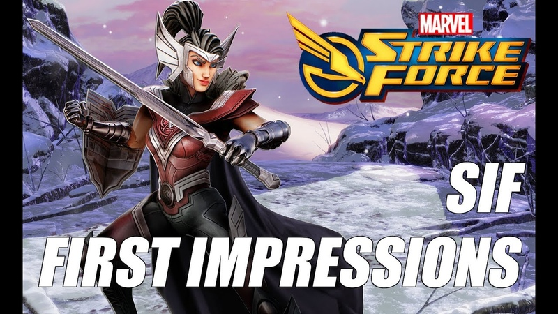 Sif Rank up First Impressions Gameplay Marvel Strike Force