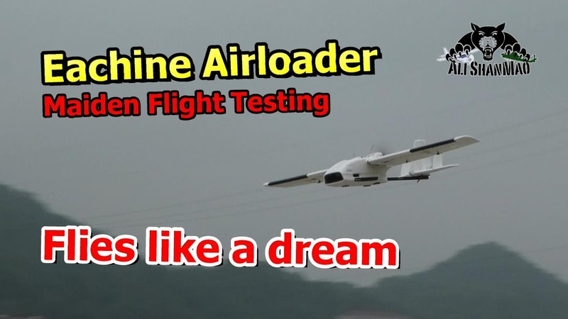 Maiden Flight Testing Eachine Airloader Long Range FPV RC Airplane