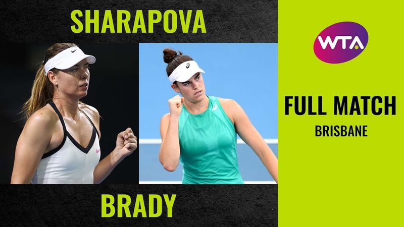 Maria Sharapova vs Jennifer Brady Full Match 2020 Brisbane Round of 32