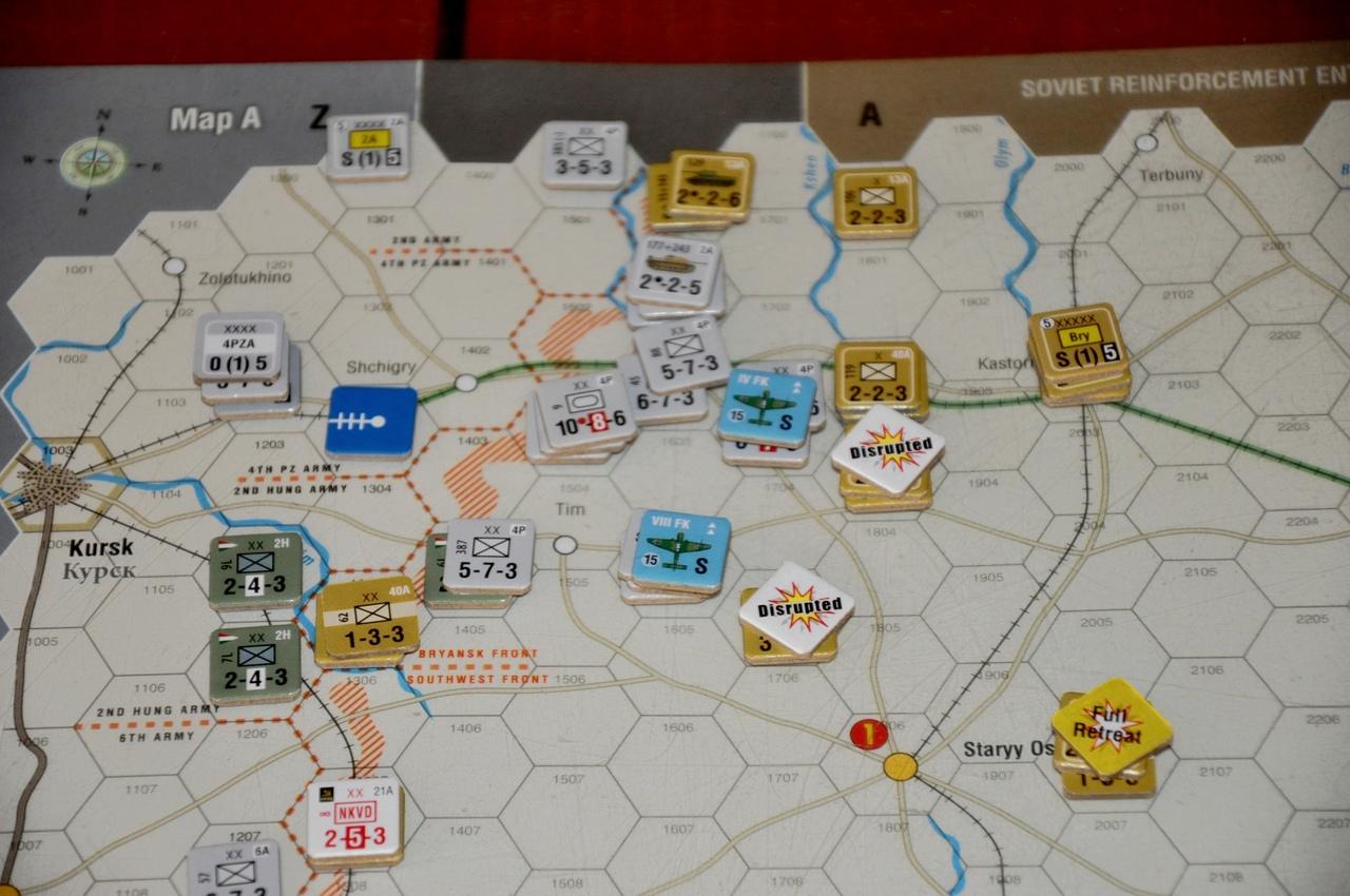 Первый немецкий ход оказался тяжелым для советских войск, их фронт оказался прорван