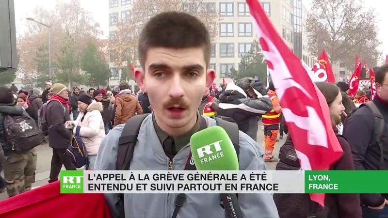 Important cortège à Lyon en protestation à la réforme des retraites