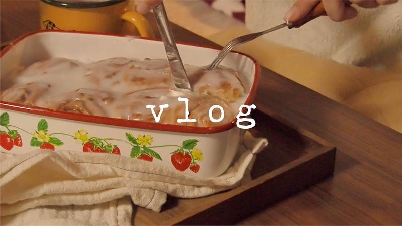 冬支度|休日のコタツ|シナモンロール|お鍋|VLOG#17