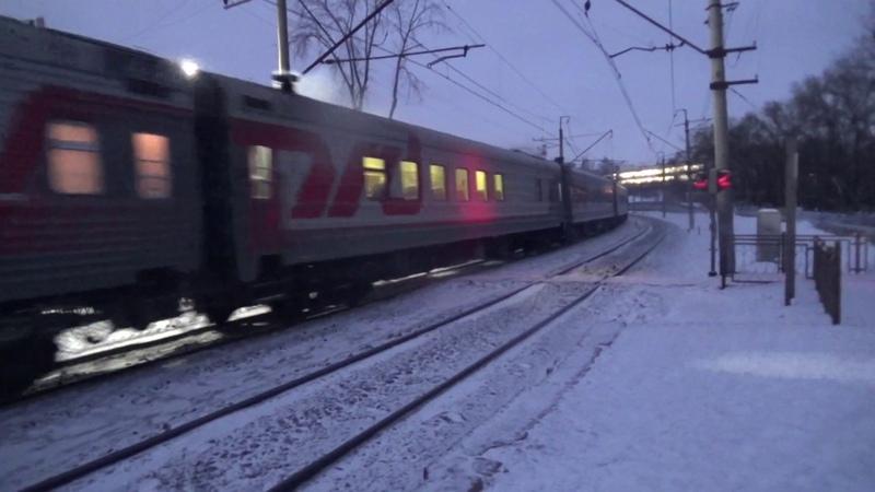ЭП2К с пассажирским поездом перегон Бахаревка Пермь 2