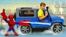 Полицейская Машинка для игрушки Человек Паук и поиски Монкарт в песке. Игры для мальчиков онлайн