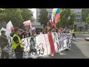 Szury z Jabłonowskim na czele pod ambasadą USA Jankesi do domu, ambasada LGBT