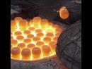 Traditional raku firing