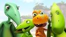 Мультик для детей про динозавров. Встреча динозавров малышей с бабушкой и дедушкой!