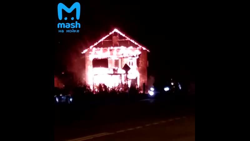 На Краснофлотском шоссе большой пожар
