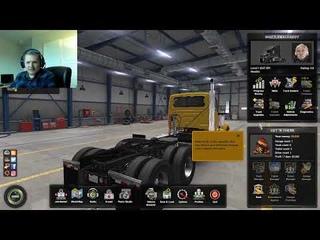 American Truck Simulator - First Run - EPIC FAIL! - Truck Got STUCK, 6K in Debt!!