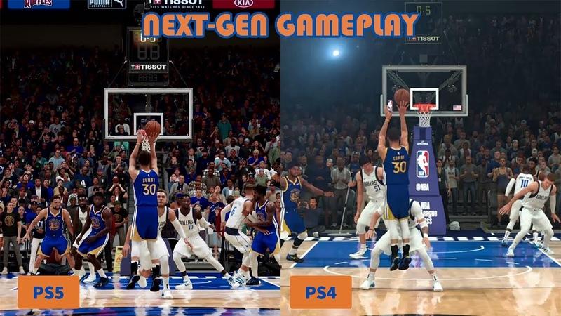 Next Gen Graphics Comparison NBA 2K21 PS5 vs PS4 Gameplay