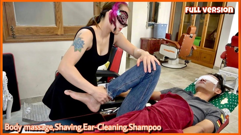 FULL VERSION 코스이발관 COSPLAY BARBERSHOP Foot Wash Body Massage Shaving Ear cleaning Shampoo Services