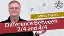 The Difference Between 2 4 and 4 4 Time Signatures - Music Theory