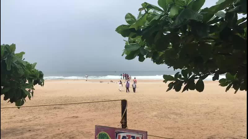 Пляж Папанасам в июне 2020 г Варкала Индия