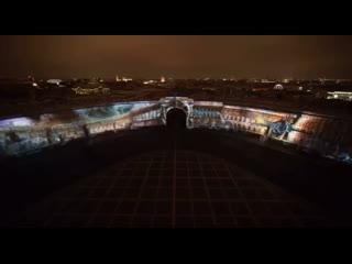 Вчера на Дворцовой проходило красивейшее световое шоу.