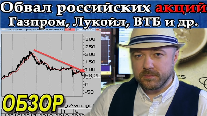Обвал российских акций продолжается Акции Газпром Лукойл Аэрофлот ВТБ Прогноз курса рубля доллара