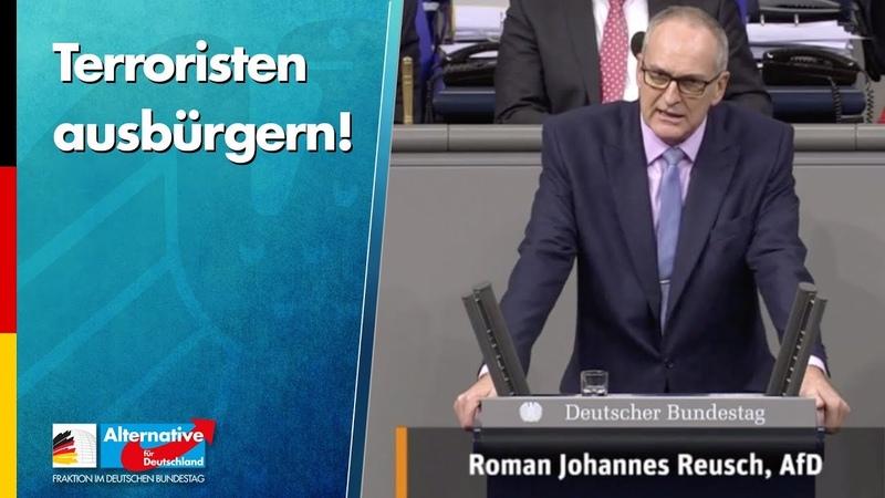 Terroristen ausbürgern! Roman Reusch AfD Fraktion Bundestag