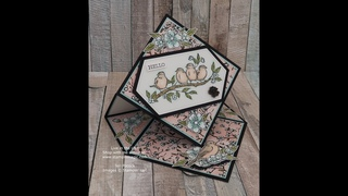 Diamond Easel Card using Free As A Bird from Stampin' Up!